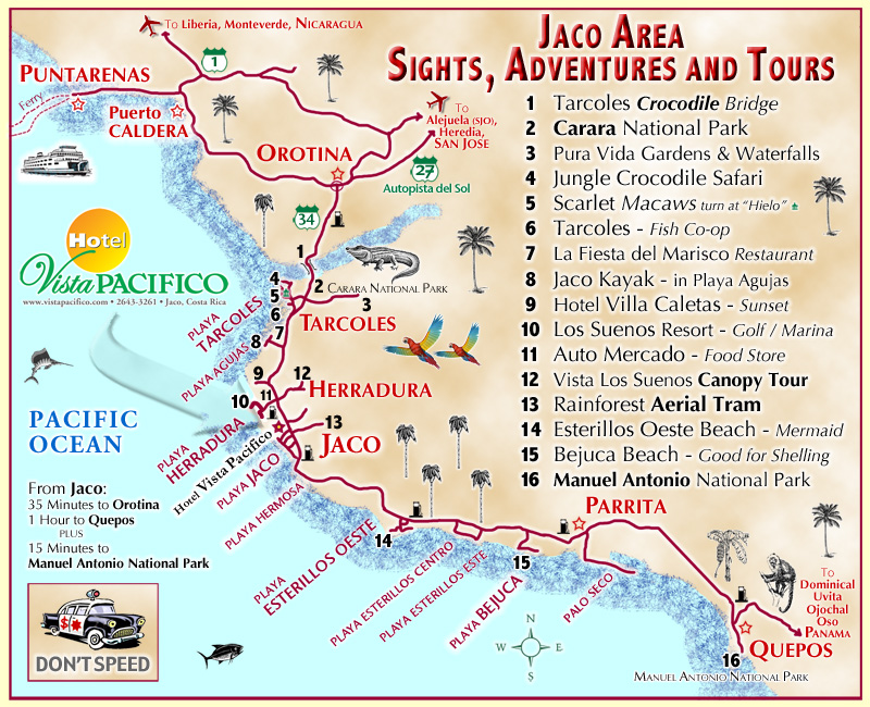 JACO TOUR MAP